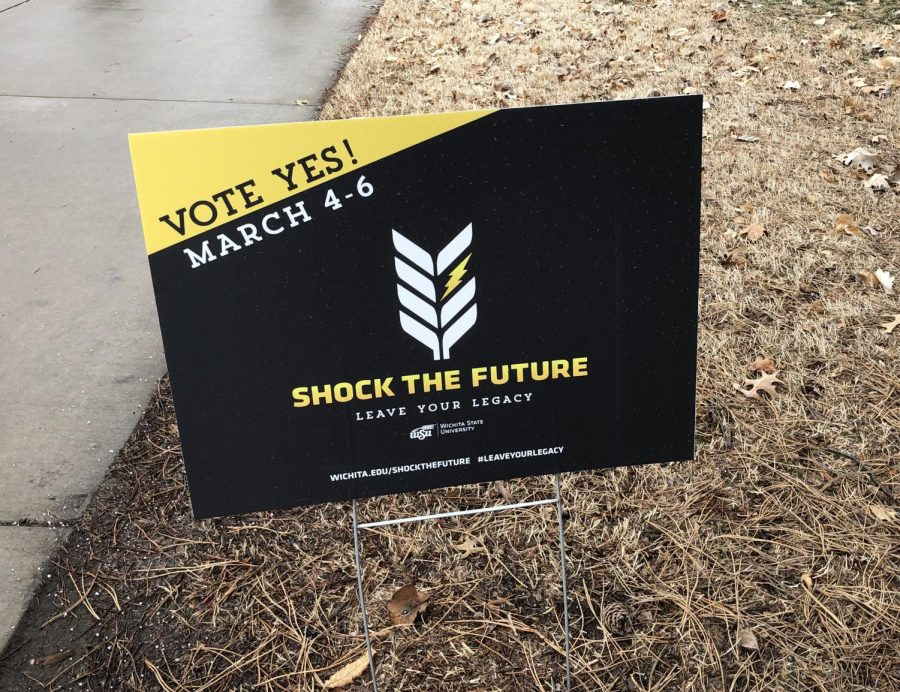 Shock+the+Future+signs+posted+around+campus+explicitly+read+%22VOTE+YES%21%22