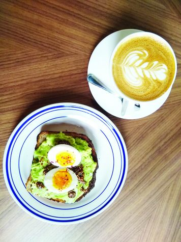 Avocado toast and coffee, pictured here, are two of the top items at Leslie's.