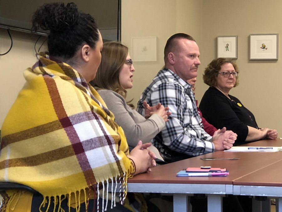 The Wichita State care team panel discusses the various resources and services available to students. Feb. 19, 2019