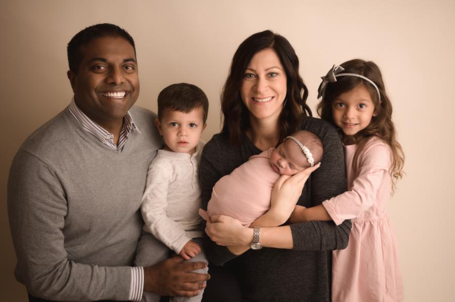 Trish and Bobby Gandu and their family (courtesy)