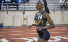 Wichita State's Winny broke the Wichita State 3000m school record, March 22, 2019 at Cessna Stadium.