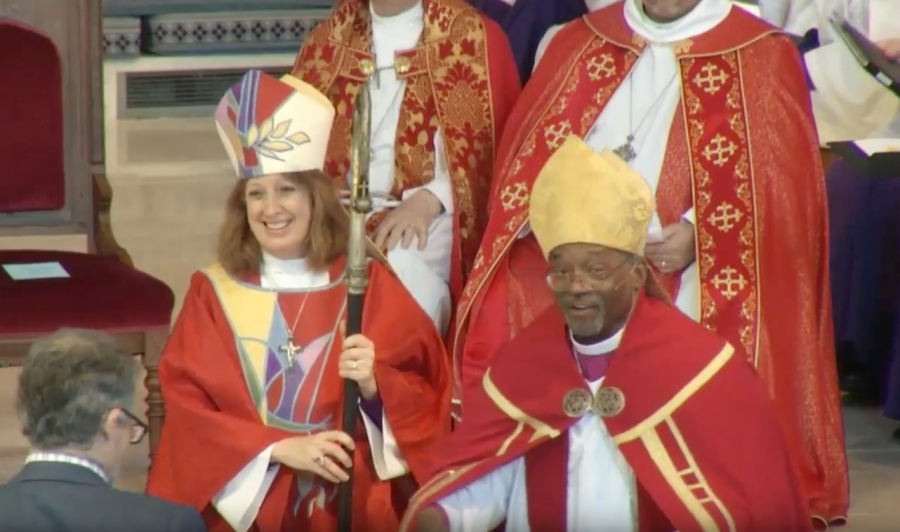 The+Reverend+Cathleen+Chittenden+Bascom+was+ordained+as+the+10th+Bishop+of+the+Episcopal+Diocese+at+Grace+Episcopal+Cathedral+in+Topeka+on+Saturday%2C+March+2.+Bascom+was+consecrated+by+The+Most+Reverend+Michael+B.+Curry%2C+Presiding+Bishop+of+the+Episcopal+Church.+