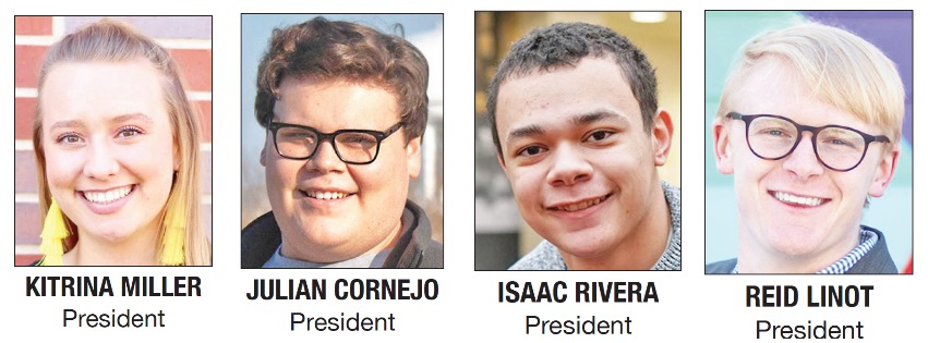 The 2019 Student Government Election presidential candidates.