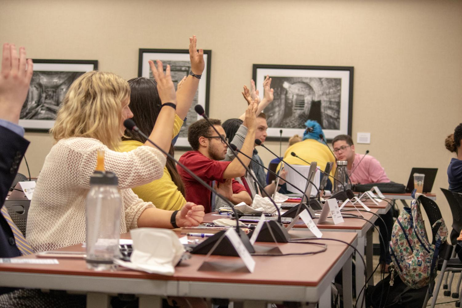 The Student Government Association passes a bill unanimously on Wednesday April 24, 2019.