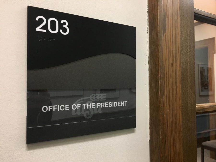 Wichita State's Office of the President is in Morrison 203.