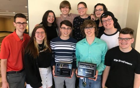 The Sunflower, editor in chief win top awards at Kansas Collegiate Media conference