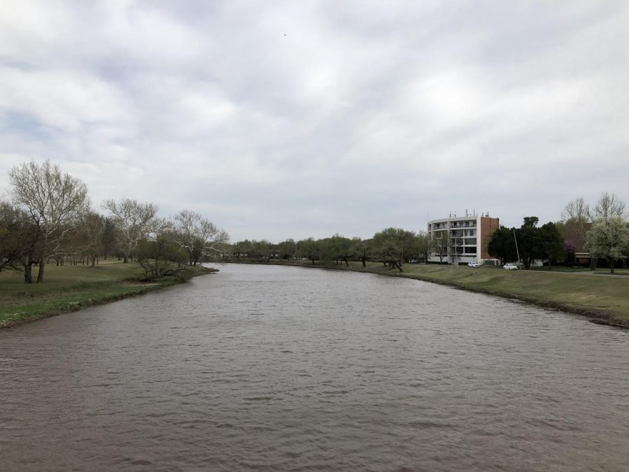 The banks of the Arkansas River near 11th Street.