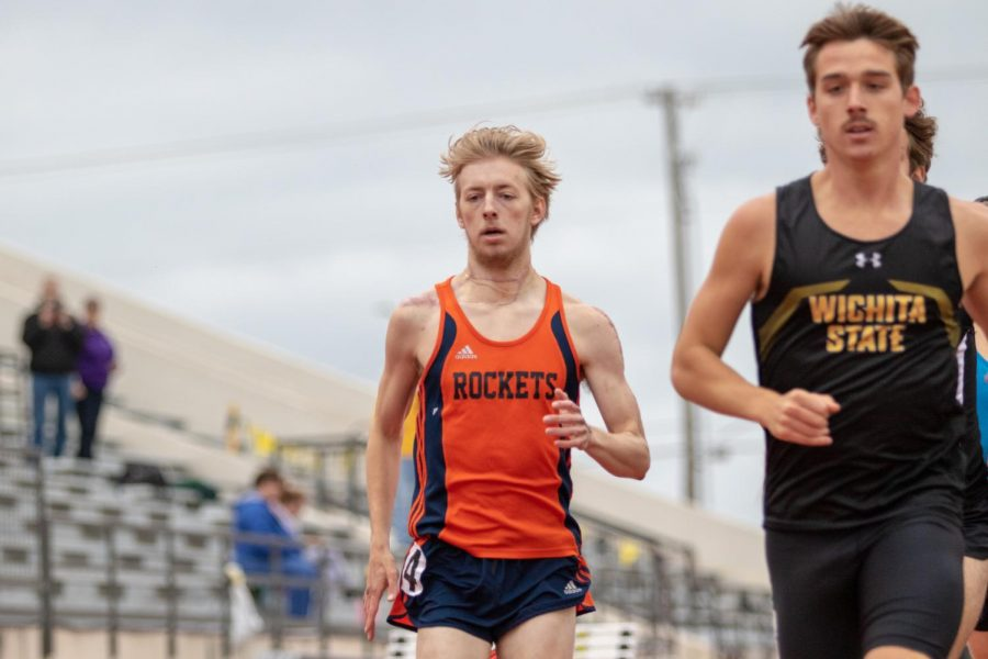 Josh Cable runs unattached in the Shocker Open on May 3, 2018 at Cessna Stadium.