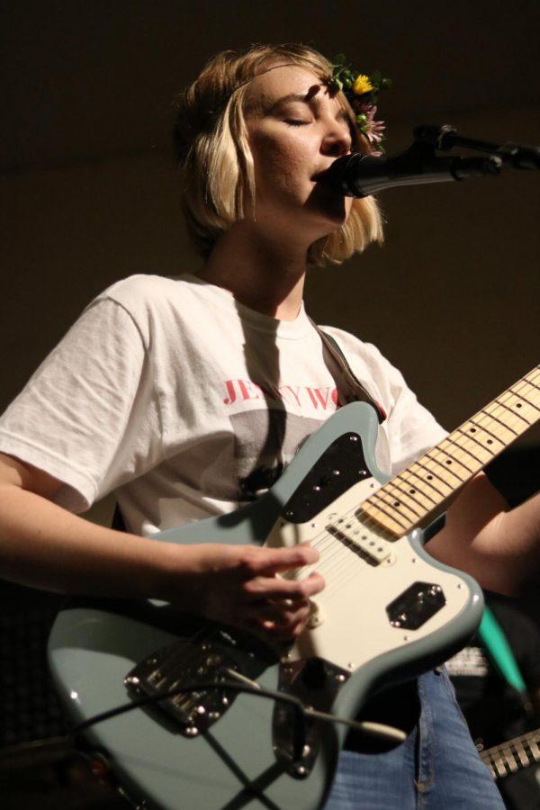 Kristyn Chapman of Cartwheel sings at Jenny Woodstock on Saturday, May 25 at The Back Beat.