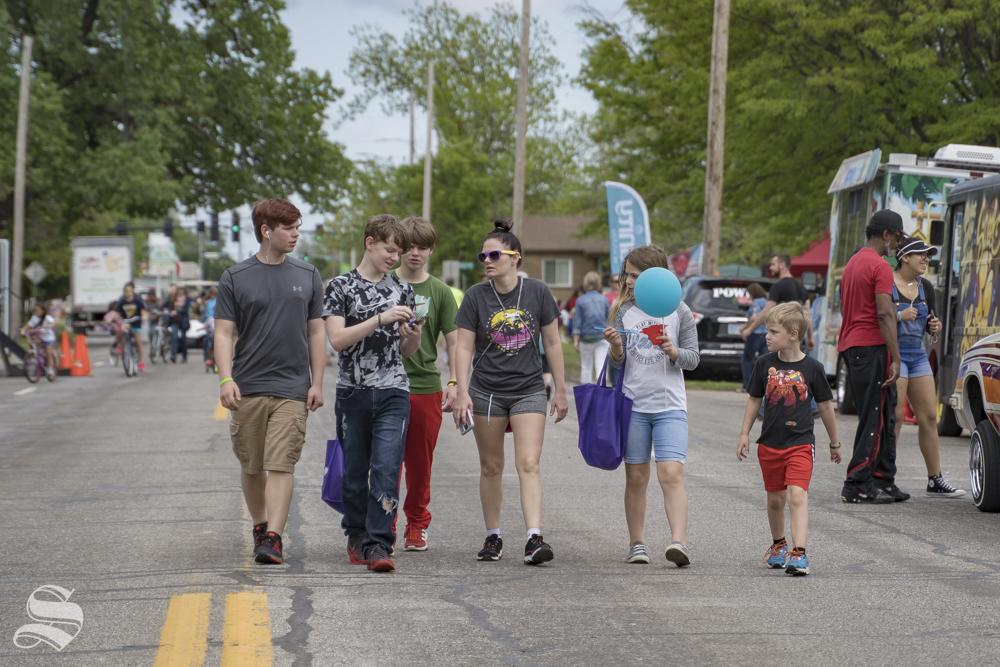 A mile of 21st Street from NoMar Market to Woodland Park was closed for Open Streets ICT on May 5. The street was completely closed to traffic so that locals could walk on the streets.