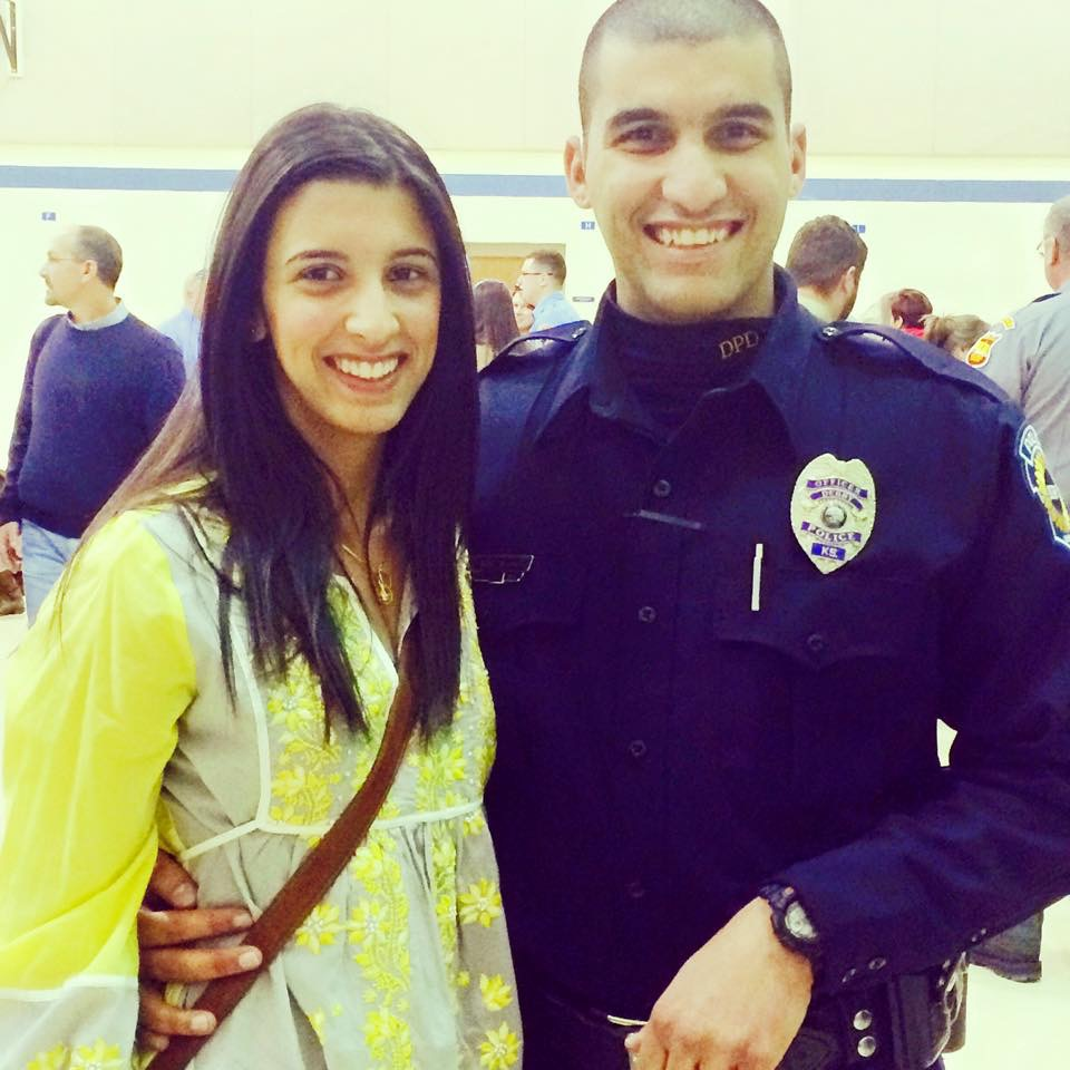 "Rowena and Rooshad Irani at Rooshad's graduation from the Kansas Law Enforcement Training Center (KLETC) in Hutch. ""She was just proud to see me accomplish that dream,"" Rooshad said."