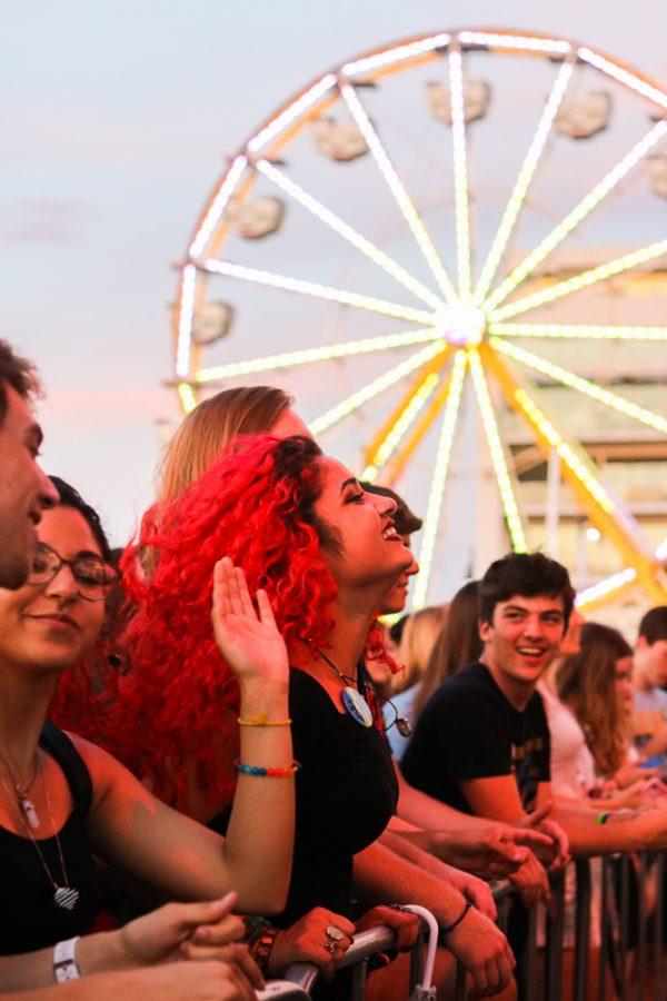 Fans dance during The Cavves performance at Riverfest on Thursday, June 6.