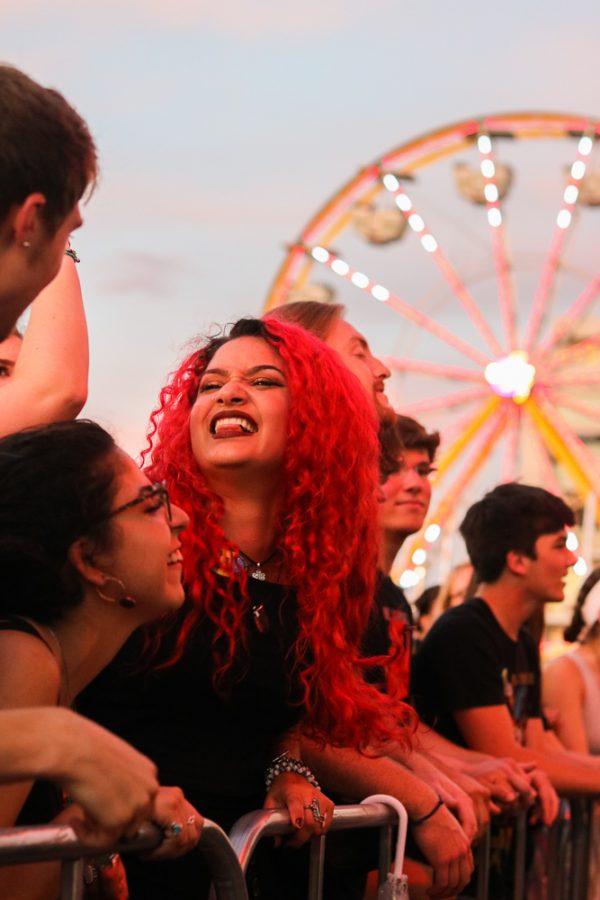 Fans rock out during The Cavves set at Riverfest on Thursday, June 6.