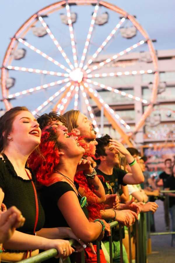Fans dance during The Cavves set at Riverfest on Thursday, June 6.