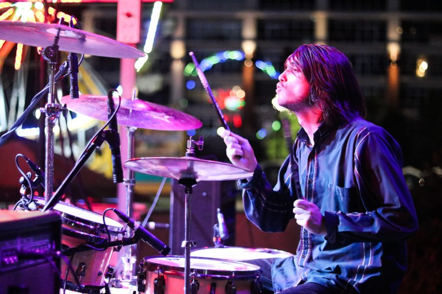 Logan Bush of Kill Vargas performs at Riverfest on Thursday, June 6.