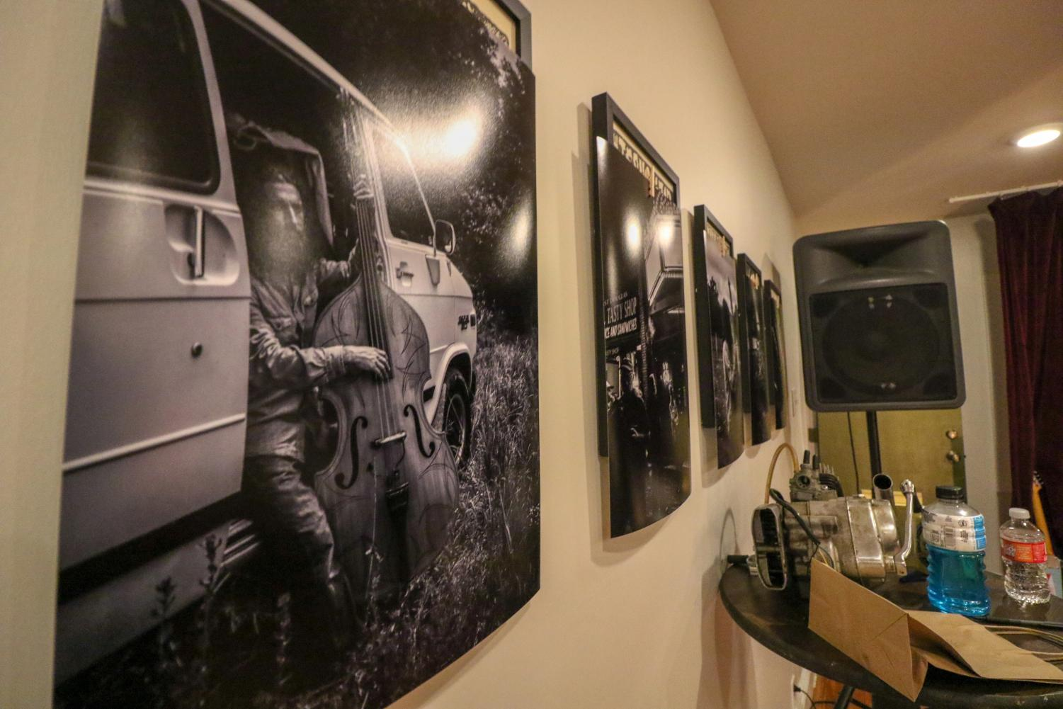 Artwork by local photographer Rose Cunningham at Ellis Street Moto.