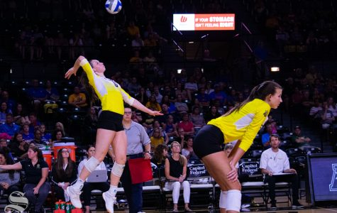 Shockers sweep Holy Cross in straight sets to open season