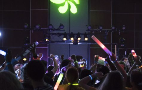 PHOTOS: Foam Drop Dance Party turns Glow Dance Party due to weather