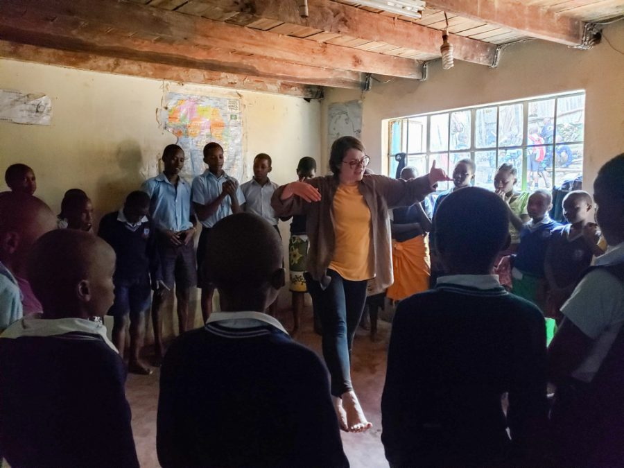 Sandra Carlo spent part of her summer in Nairobi, Kenya helping provide arts tutoring, shelter and community resources to residents in the Mathare slum.