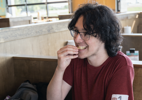 Graphic design student Christian Hurst was the first of 50 people to win free tacos for a year from WSU