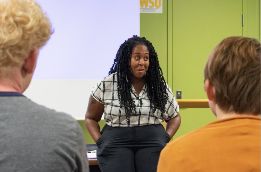 Imani Mosley, a new assistant professor in WSU's School of Music, is a musicologist and digital humanist with two master's degrees and a Ph.D.