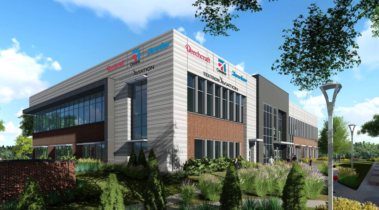 This digital rendering shows what Textron's new space on Innovation Campus is expected to look like.