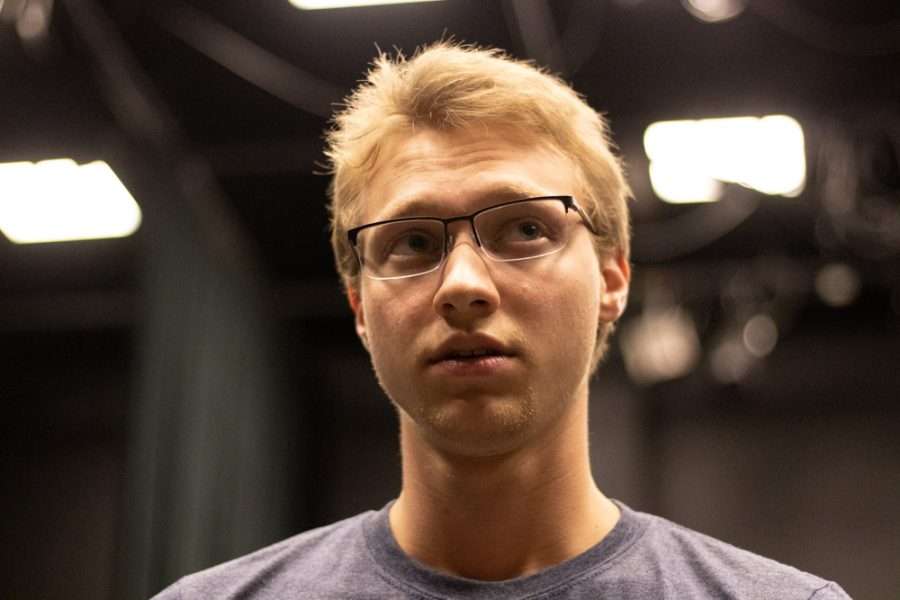 Ciaron Schaedtler plays Jesse during the rehearsal of Love Me or Leave Me.