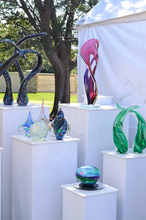 Valley Center artist John McDonald displayed his blown glass creations to curious onlookers at the 10th annual Autumn and Art fair hosted by Bradley Fair.