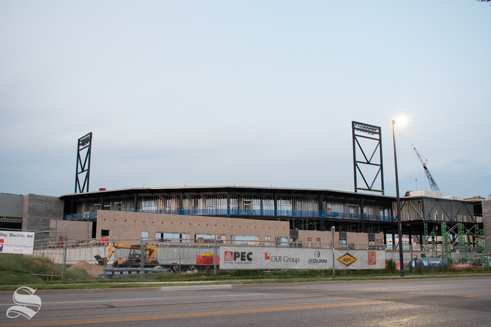 Construction continues on Wichita's new minor league baseball stadium. The stadium will be just one attraction at the ballpark village which is said to be completed by 2020.