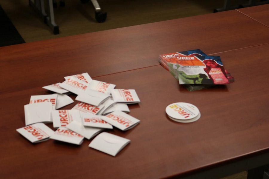 Condoms, stickers and informational pamphlets were just some of the items given away at FOCUS meeting.