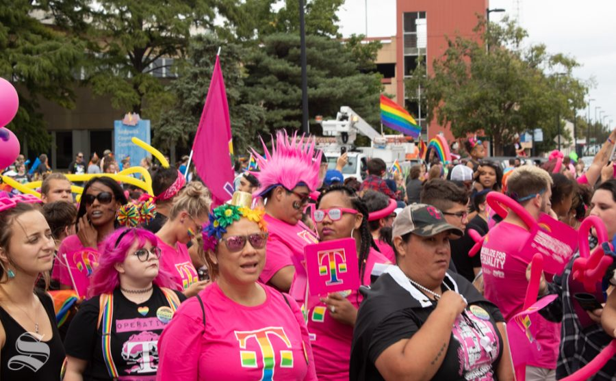 Paraders with T-Mobile were decked out in pink at the 2019 Wichita Pride Parade. They were just one business that showed their support for the local LGBT+ community.