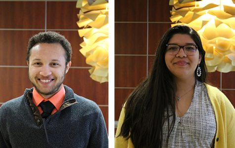 Honors Sen. Lucas Webb, left, and LAS Sen. Crystal Zacarias were appointed as senate president pro-tempore and alternate at the Wednesday SGA meeting. The two positions are part of the executive line-of-succession.