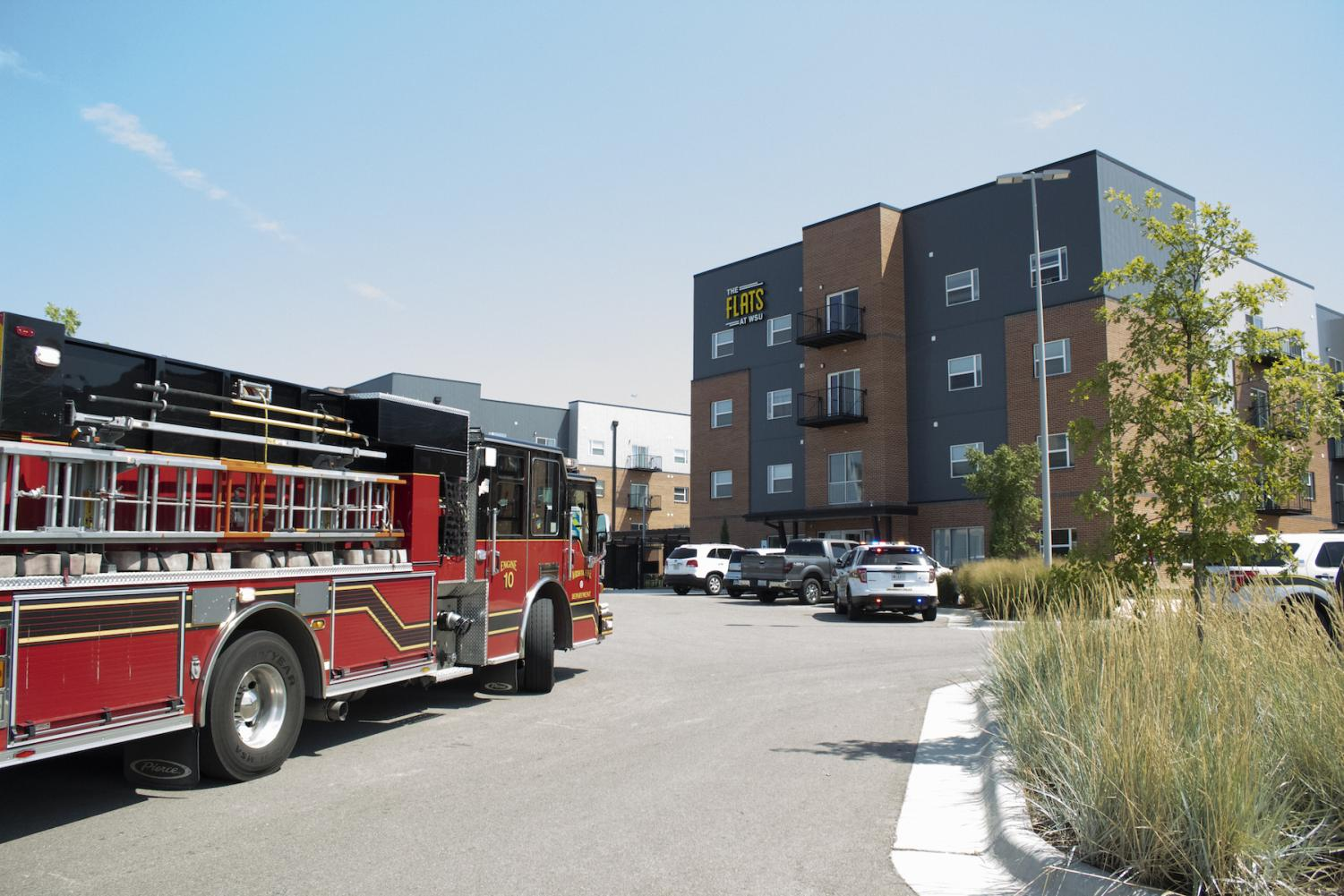 Emergency crews responded to The Flats around noon Friday. A student was pronounced dead on the scene.