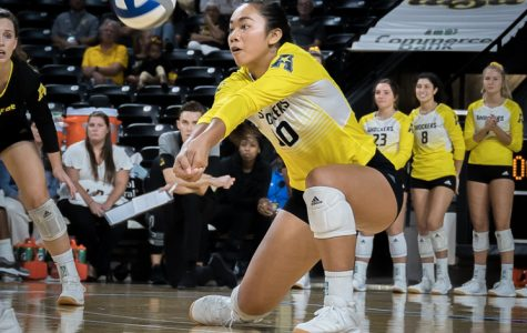 WSU drops home opener to No. 13 BYU in four sets