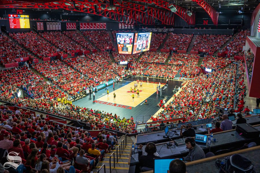 Wichita State played Nebraska on September 21, 2019. Bob Devaney Sports Center was filled with a 8,000-plus Cornhusker crowd.