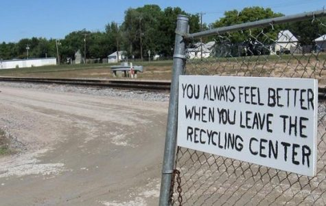 Sign outside PRo KANSAS Miller Recycling Center.