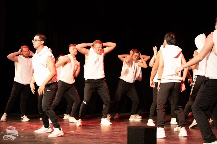 Sigma Alpha Epsilon throws it back with their history of hip-hop theme at Songfest on Saturday, Oct. 26 at the Orpheum Theatre.