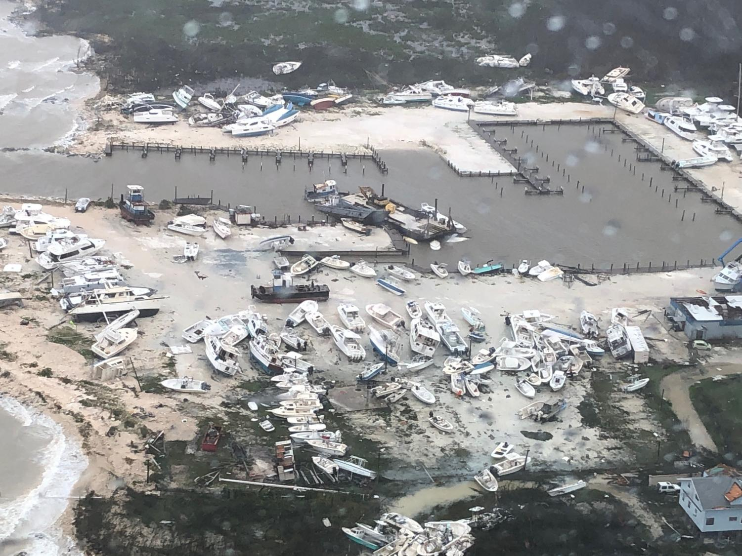 This image shows some of the destruction at the Bahamas following Hurricane Dorian.