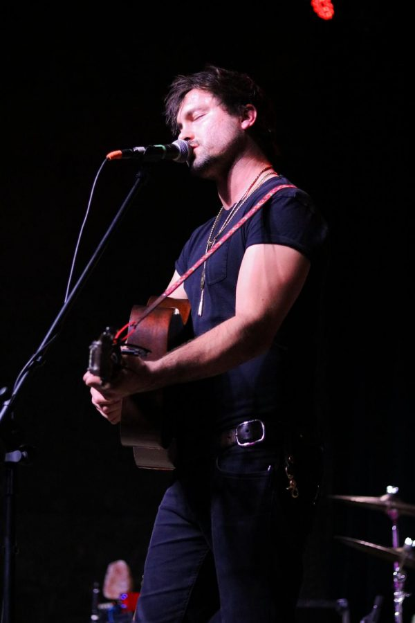 Jared Kolesar, lead singer for Jared & The Mill, sings at WAVE on Wednesday, October 16.