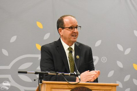 Dr. Jay Golden, of East Carolina University, was selected on Thursday to be the 14th president of Wichita State University. He previously served as the vice chancellor for ECU