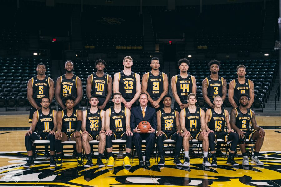 Head+Coach+Gregg+Marshall+and+Wichita+State+2019-2020+roster.