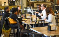 Diversity interns hear from Jay Golden at breakfast
