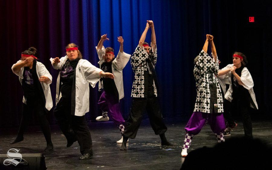 Kansas State Universitys Yosakoi Dancers perform during Yokoso: Japanese Culture Night on Friday, Nov. 1 at the CAC Theater.