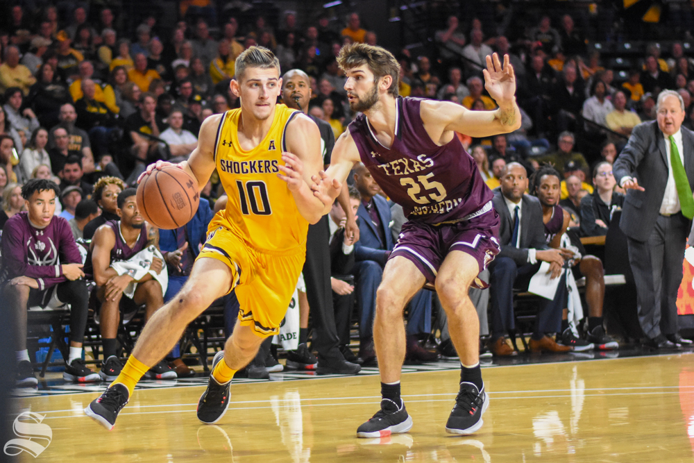 Erik Stevenson had a solid all-around game to lead Wichita State to a win over South Carolina in the Cancun Challenge.   (Photo: Morgan Anderson/The Sunflower.)