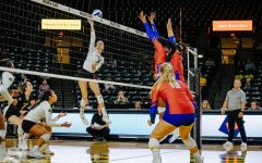 Mustangs defeat Shockers in 4 sets