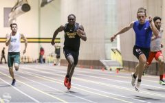 Wichita State's Grant Downes competes in the 60 meter dash during the Shocker Multi meet held at the Heskett Center on Wednesday, Dec. 4, 2019.
