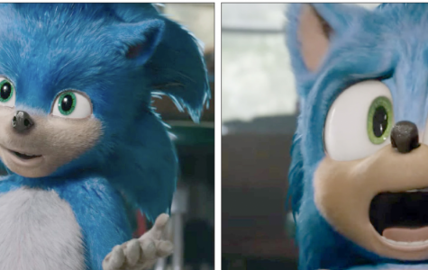 Left, the original animation of Sonic the Hedgehog. Right, Sonic after a $9.5 million renovation.