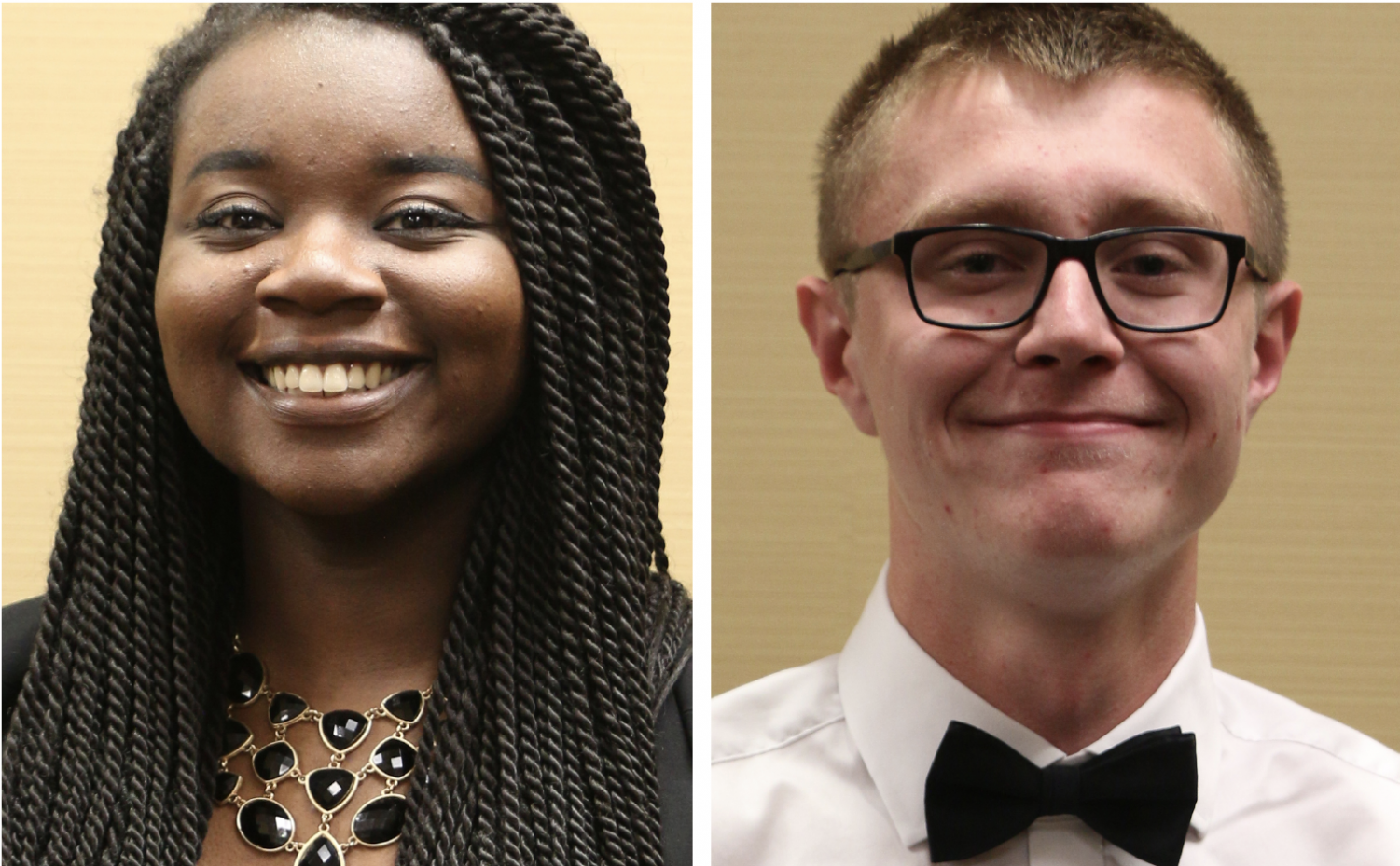 Courtney Price-Dukes (left) and Max Karst) are this year's winners of the Student of the Year award.