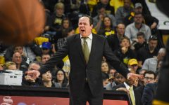 Head Coach Gregg Marshall yells to his team during the second half of the game against VCU on Saturday, Dec. 21.