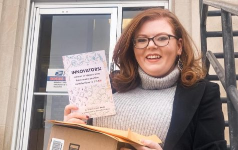 Student's book encourages young girls to pursue their ambitions